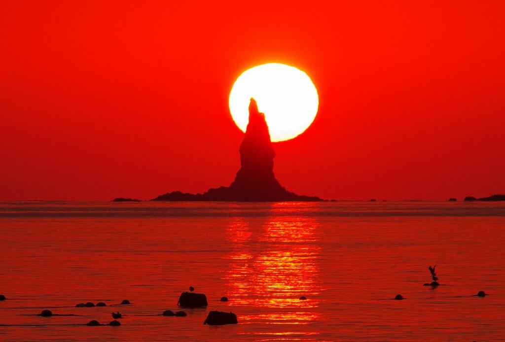 薩摩半島 火の神公園 立神岩
